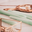 Thumbnail: HV gedraaide kaarsen -  mint set/4  2x20 cm