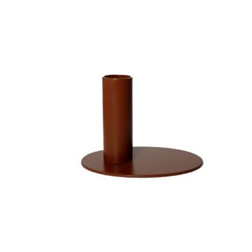 Kandelaar - metaal ovaal 7,5 cm