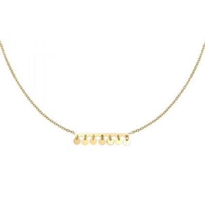 Ketting Confetti - goud 38cm