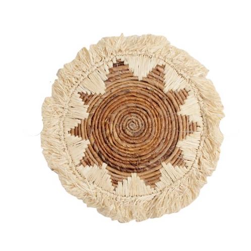 Raffia Fringe rond -  40 cm