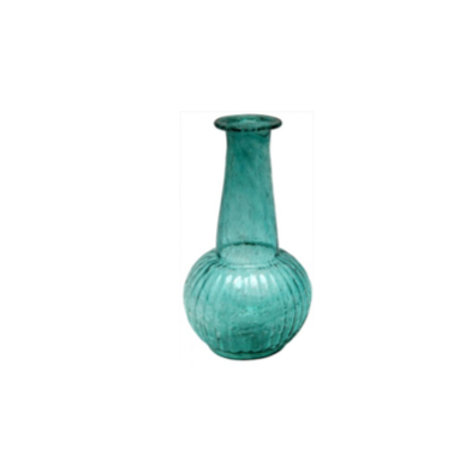 Vaasje  - H15 cm recycled glas turquoise
