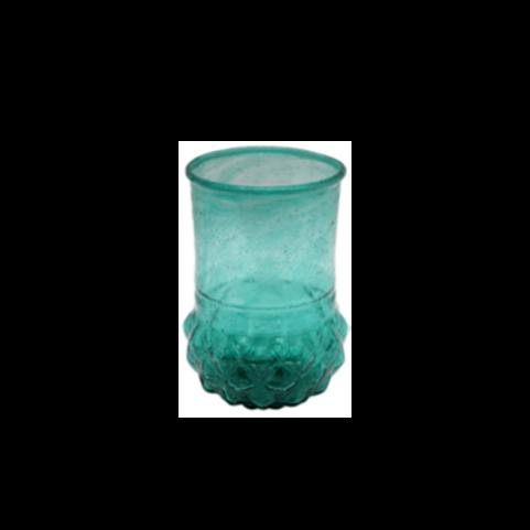 Vaasje  - Toska vaasje turquoise gerecycled glas
