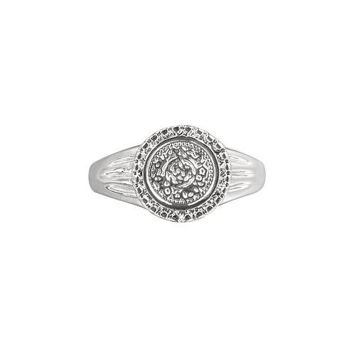 Ring Roman coin  -  zilver