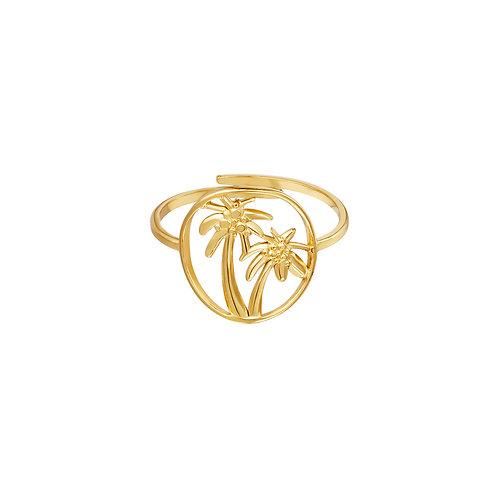 Ring Palmboom - goud