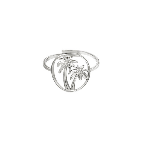 Ring Palmboom - zilver