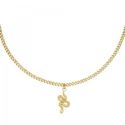 Ketting Shiny Serpent - goud 42cm