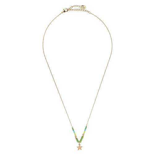 Ketting Beads & Star - groen