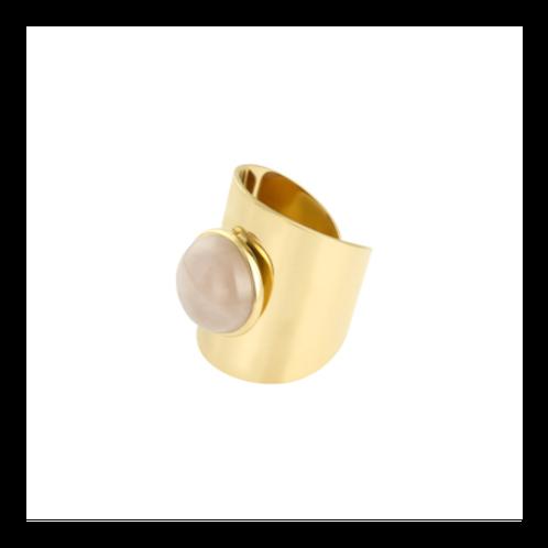 Ring Enchanted - goud  steen rose