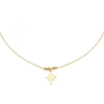 Ketting Be My Star - goud 38cm