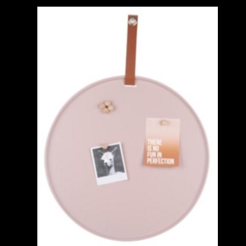 Memo board -  Oud roze 50cm, incl. 6 magneten