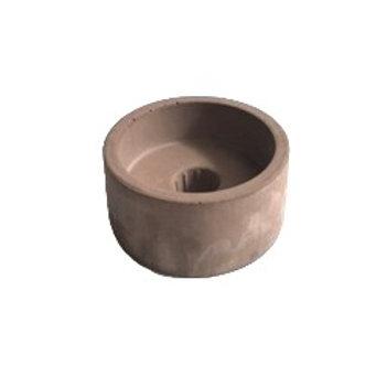 Kandelaar - Concrete bruin-roze
