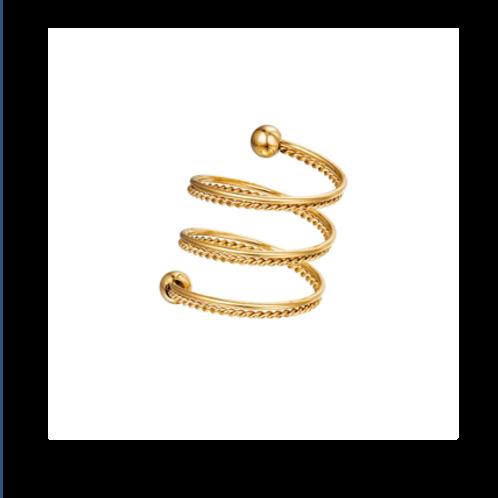 Ring Spiraal - goud