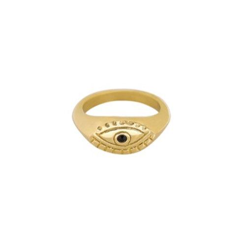 Ring Curious Eye - goud