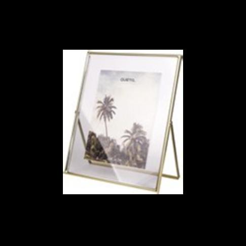 Fotolijstje - glas met messing rand  13x18cm