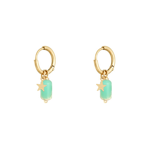 Oorbel Candy - turquoise