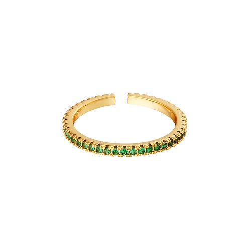 Ring steentjes - groen