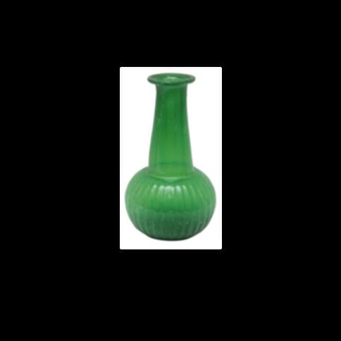 Vaasje  - H15 cm recycled glas groen