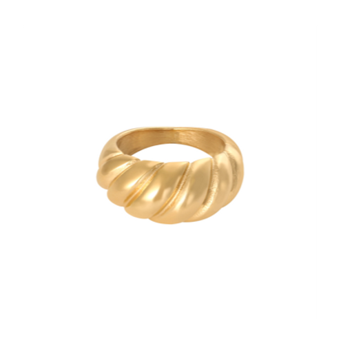 Ring Large Baguette - goud