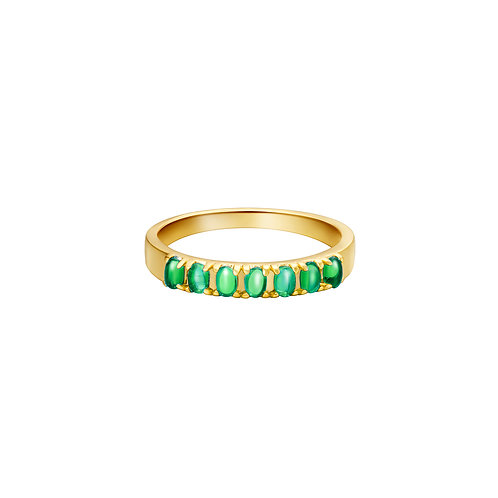 Ring colored row - goud