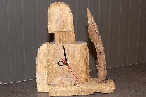 Horloge bois flotté