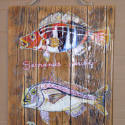 poissons_ peinture bois flotté