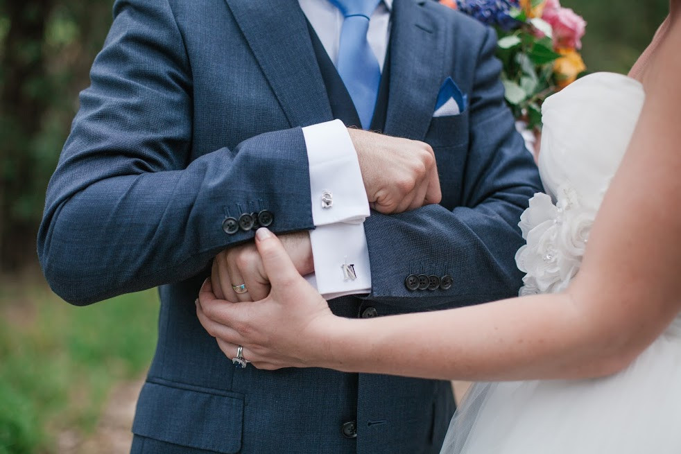 Personalised initial cufflinks