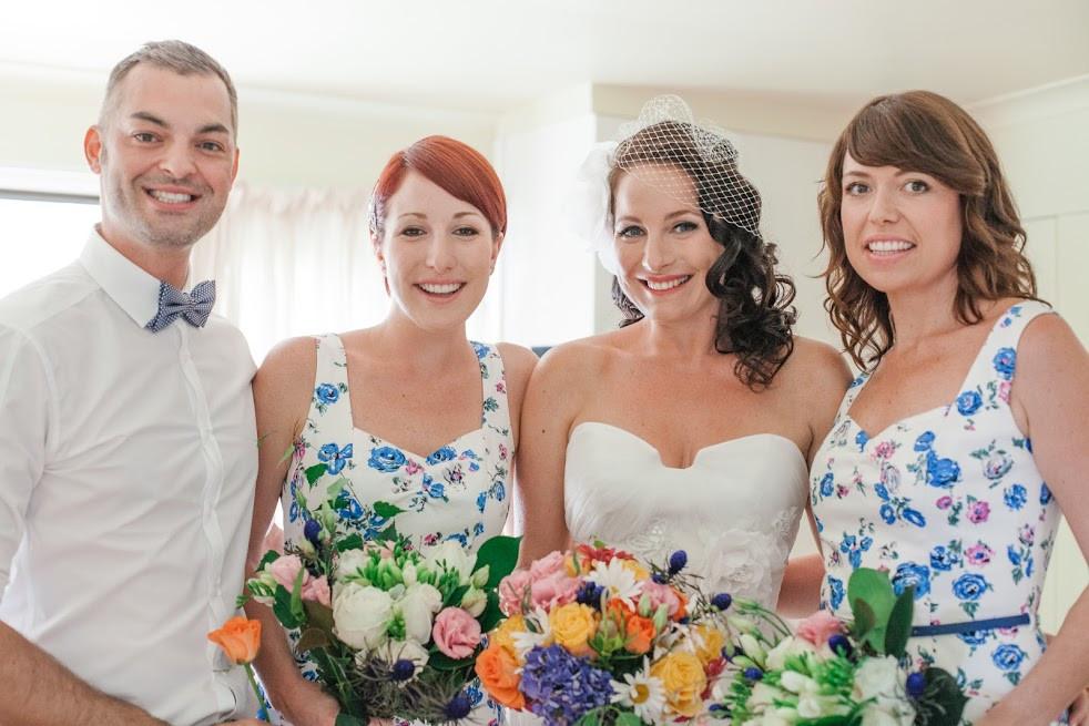 Bride, bridesmaids & bridesman