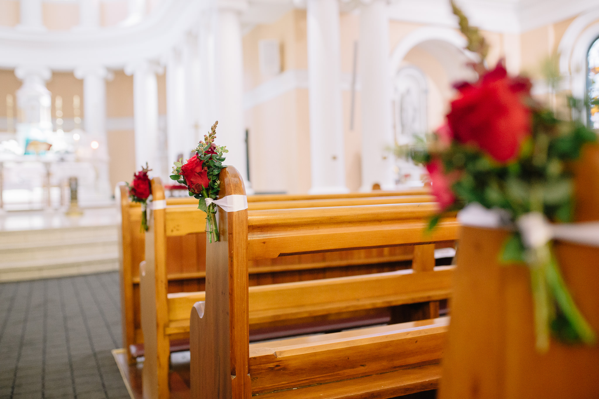 Church Pew Florals