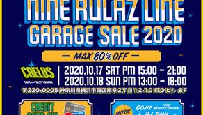 NINE RULAZ LINE - GARAGE SALE 2020
