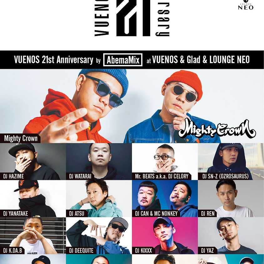 「VUENOS 21st Anniversary Party」 by AbemaMix at VUENOS & Glad & LOUNGE NEO