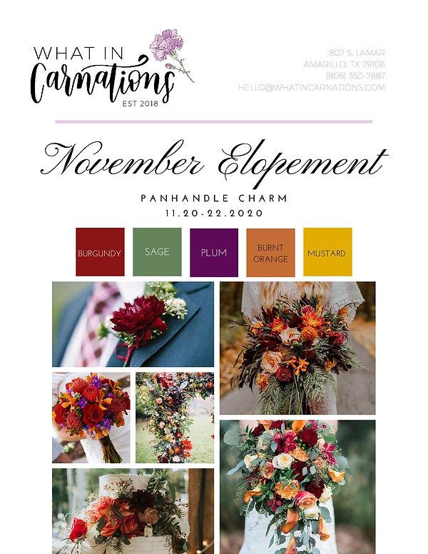 November Elopement