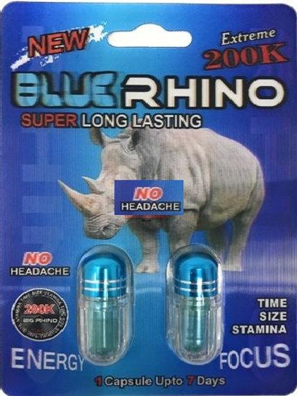 BLUE RHINO 200K DUAL PAK! 2(Pills)