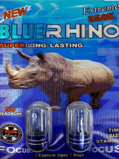 BLUE RHINO 500K!!!!!  DUAL PAK 2(Pills)