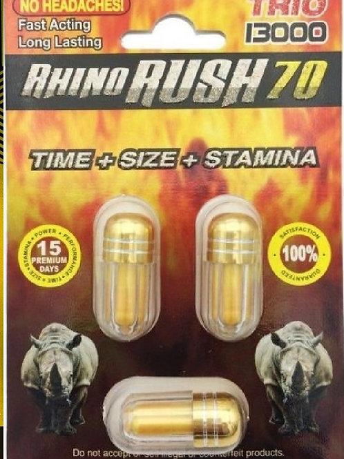 RHINO RUSH 70  13000K TRIPPLE PAK!