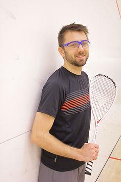 Kiefer Waite, NCCP Level 2 squash coach, Fish Creek Squash Club pro
