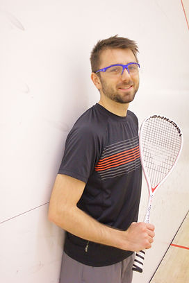 Kiefer Waite, Level 2 squash coach, squash pro at Fish Creek Squash Club