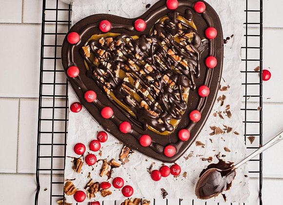 Chocolate Heart Pizza