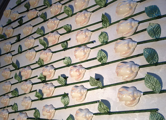 Dozen White Chocolate Roses