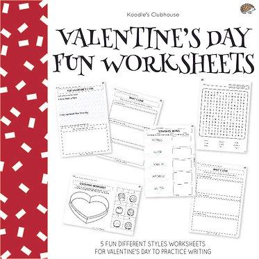 Valentine's Day Fun Worksheets