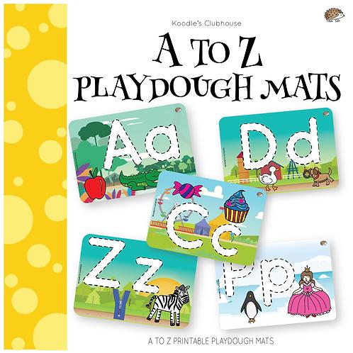 A to Z playdough mats