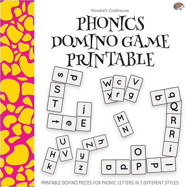 Phonics Dominoes Game Printable