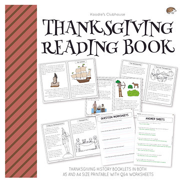 Thanksgiving Reading Book