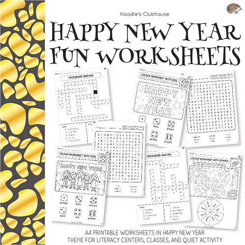 Happy New Year Fun Worksheets