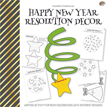 Happy New Year Resolution Decor