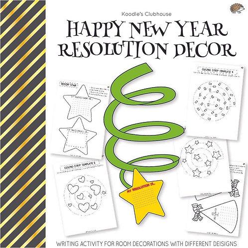 Happy New Year Resolution Decor