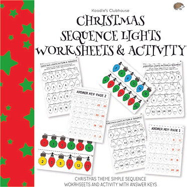 Christmas Sequence Lights Worksheets
