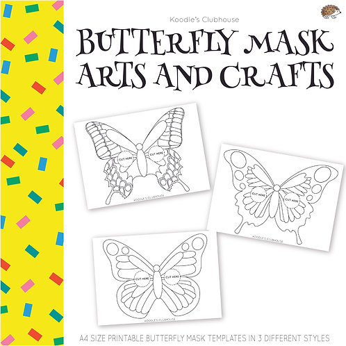 Spring Butterfly Mask Arts and Craft