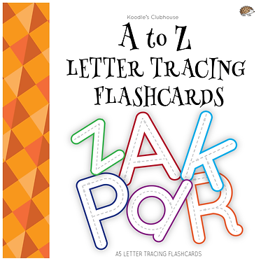 A to Z letter tracing cards
