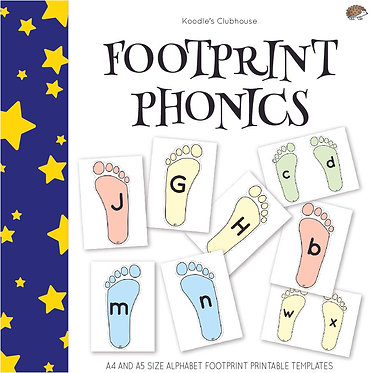 Footprint Alphabet Letters Game