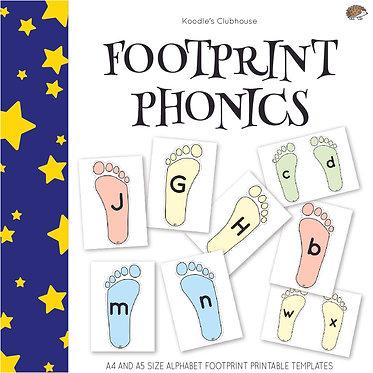 Footprint Alphabet Letters Game